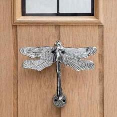 Cast Iron Metallic Dragon Fly Door Knocker Chrome