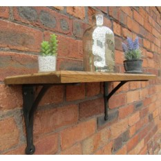 solid oak wood handmade shelf penny hill unfinished oak 58cm
