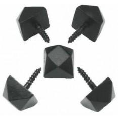 Pack of 10  Door Studs Black Antique 15mm