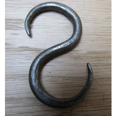 60mm Handforged S Hook Antique Iron
