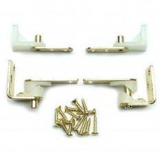 Pair of Saloon Door Hinge brass plated