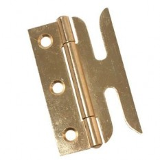 Pair of Slotted Sash Hinges Polished Brass