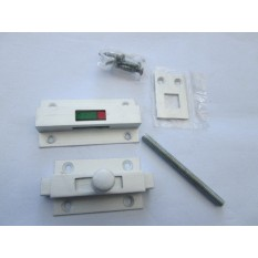 Satin Aluminium Privacy Latch Bolt