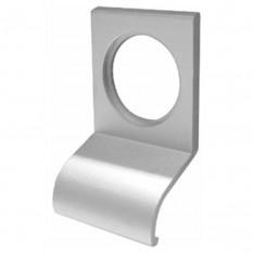 Plain Door Cylinder Pull Satin Aluminium