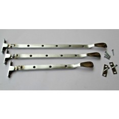 Satin Brushed Chrome Casement Stay Arm 10""