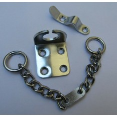 Chunky Door Chain Satin Chrome
