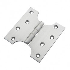 "Pair Of 6"" Solid Brass Parliament Door Hinges Satin Chrome"