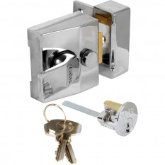 Deadlocking Nightlatch 85 Narrow Chrome