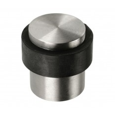 Door Stopper Cylinder Satin Steel