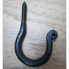 Screw in Ceiling Hook black wax