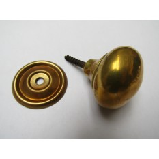 Screw In Cabinet Knob Antique Brass 32mm