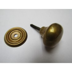 Screw In Cabinet Knob Antique Brass 38mm