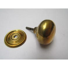 Screw In Cabinet Knob Natural Brass 38mm