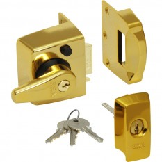 ERA BS High Security Nightlatch Brass Effect Narrow