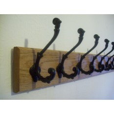 Black Antique Sedgewick Tip Coat Hook Rail