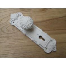 Shabby Chic Knob Coat Lock Hook White Patina