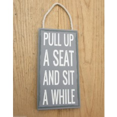 Shabby Chic Wooden Hanging Sign