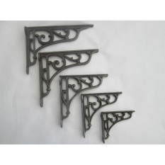 antique Iron victorian style scroll brackets