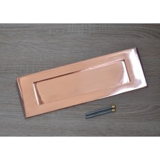 "12"" Plain Letter Plate Polished Copper/ Rose Gold"