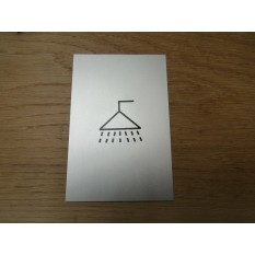 "6"" Satin Aluminium Shower Door Sign"