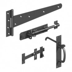 Gatemate 16'' Black Side Gate Kit With Suffolk Latch