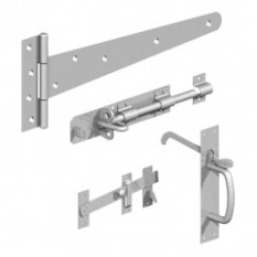 Gatemate 18'' Zinc Plated Side Gate Kit With Suffolk Latch