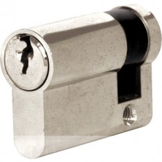 6 Pin Euro Cylinder Lock 40mm Silver