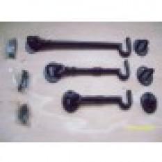 Plain Black Cabin Hooks-8 inch