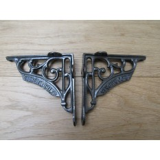 "Pair Of 5"" Singer Corp Shelf Brackets Antique Iron"