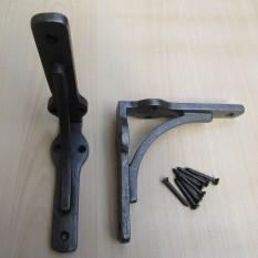 Pair Of Small Gallow Shelf Brackets Antique Iron