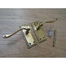 Small Lever Latch Door Handle Georgian Polished Brass