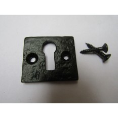 Small Square Escutcheon Black Antique