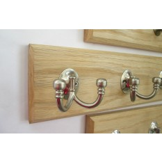 Satin Nickel Double Ball End Coat Hook Rail