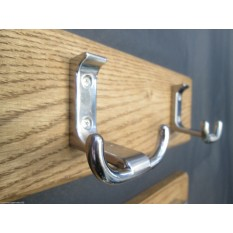 Satin Chrome Towel Hook Rail
