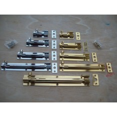 Solid Brass cranked necked door bolts