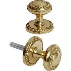 Solid Brass Georgian Mortise Knobs