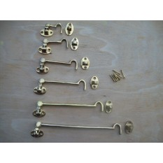 Solid Brass Hook & Eye Cabin Latch
