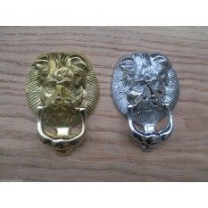 solid brass traditional small Victorian lion head