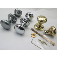 Solid Brass Victorian Styled Mortise Knobs