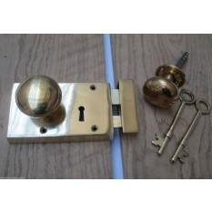 solid brass vintage retro old english victorian door knob
