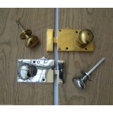 Solid Brass Right Hand Latch and Knob Set