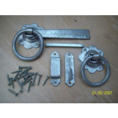 SPELTER GALVANISED RING GATE DOOR LATCH LOCK NEW