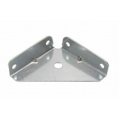 Pack Of 10 SQ Corner Brackets Silver Zinc