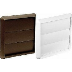 "5"" Square Air Flap Vent Brown"