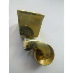 Furniture Square Cup Castor Polished Brass