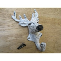 Pack Of 3 Stag Head Coat Hooks