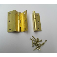 Pair of Stormproof hinge Brass