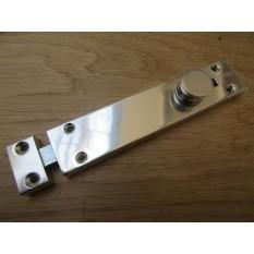 "6"" Surface Door Slide Shoot Bolt Polished Aluminium"