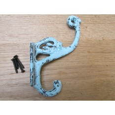 Pack Of 5 Swan P Coat Hooks Blue Patina