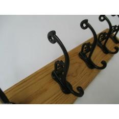 Black Antique Swan P Coat Hook Rail